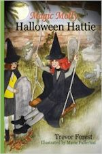 Cover art, two young witches, one standing, one on a swing